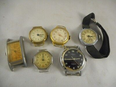 Mixed Lot of Six Vintage Wristwatches