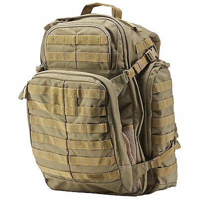 5.11 Tactical Rush 72 backpack Sandstone - New + Hydrapak Fox 3L Reservoir GIFT