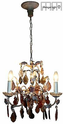 Antique Italian Chandelier  Crystal  Vintage + 2 x Wall Sconce FLORENZ  RARE!!