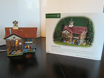 Department 56 New England Village: The Cranberry House #56627--Illuminated