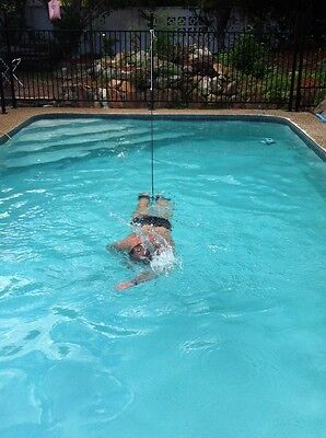 Swim Tether/Harness/Belt and Floats for stationary swimming