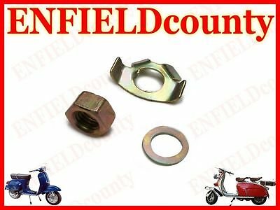 Brand New Vespa Gearbox External Tab Washer Kit With Nut Px Pe T5 Lml @cad