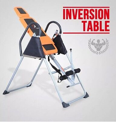Practically New INVERSION TABLE Exercise Bench reduce back/neck pain