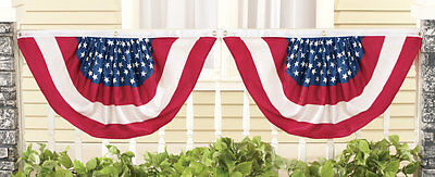 Set of 2 Stars and Stripes Flag Bunting