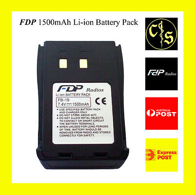 FDP Rechargeable Li-ion Battery Pack for FDP radios