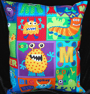 New Handmade Colorful Lovable Monsters  Toddler/ Travel/ Cuddle/ Daycare Pillow