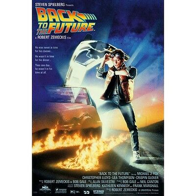 BACK TO THE FUTURE Movie Poster - Theatrical Size 27x40 Print ~ Michael J. Fox