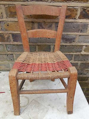 Vintage Retro Antique CHILDS CHAIR Italian Wood
