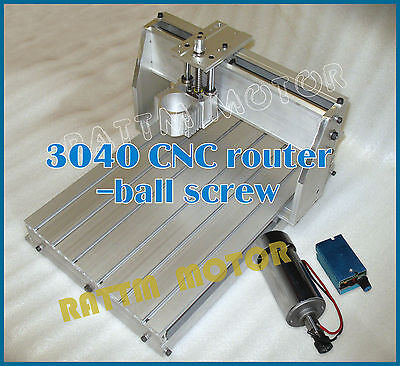 3040 CNC Router Engraving Milling Machine mechanical Frame with DC 300W spindle