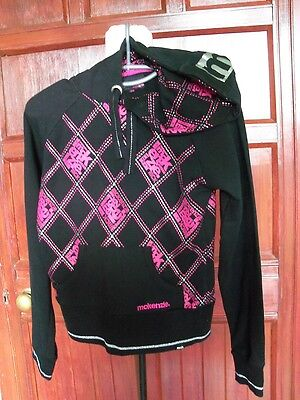 Girls jacket MCKENZIE hooded top black size 10                              0352
