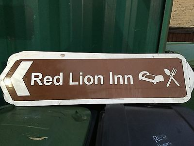 Red Lion Large Brown Sign