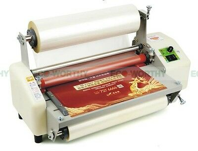 "New 13"" (330mm) A3 Laminator Four Rollers Hot Roll Laminating Machine AC220V"