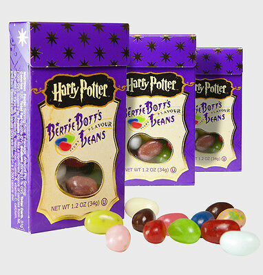 3 x JELLY BELLY HARRY POTTER BERTIE BOTTS 34g * Fast & Free Post �� *