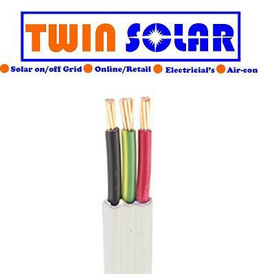 20m twin and earth 4mm cable ,wire ,pvc tps red,green black white,light,power