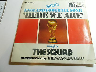 """England Football Song  """"here We Are"""" On The Inline Label 1975"""
