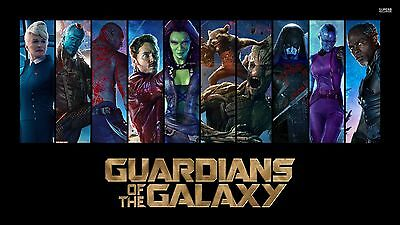 GUARDIANS OF THE GALAXY VOL.2  ALL HEROS 11x17 MINI MOVIE COLLECTIBLE POSTER
