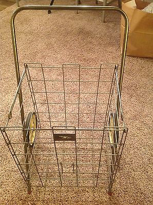 Vintage Folding Metal Wire Cart Laundry/Shopping Mid-Century Pick Up Milwaukee