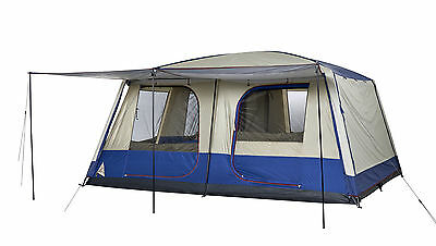 OZtrail Dome Tent 12 Person Lodge Combo Plus Family Cabin Camping Hiking