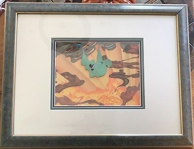 Fantasia 1940 Production Cel 'Green Ghost' Hand Painted Background Disney