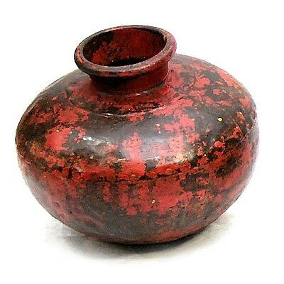 Silkroute PST3708R  Iron Painted Pot - Red