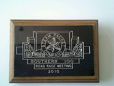 Southern 100 finishers plaque
