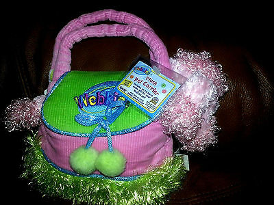 Webkinz Pet with Carrier & Code-New-Pink Dog