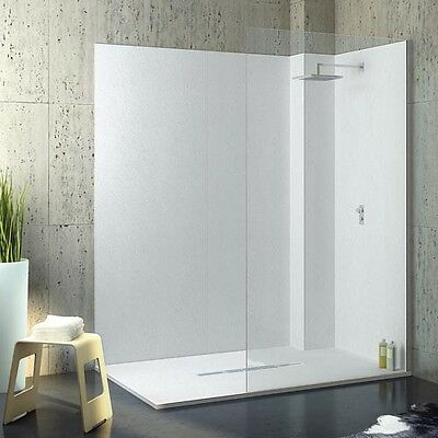 PVC wall lining sheets for showers and wet rooms (2.4m x 1.2m x 2mm white satin)