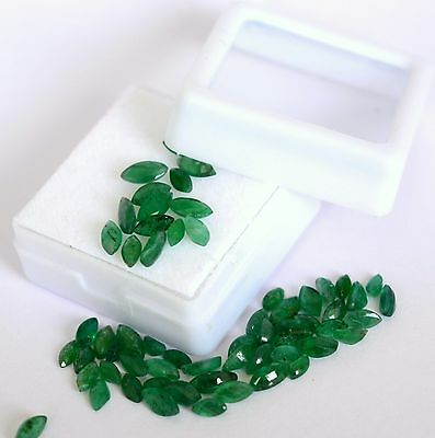 Natural Emerald Marquise Cut Mix mm 2.29Cts Lot 15 Pcs Untreated Loose Gemstones
