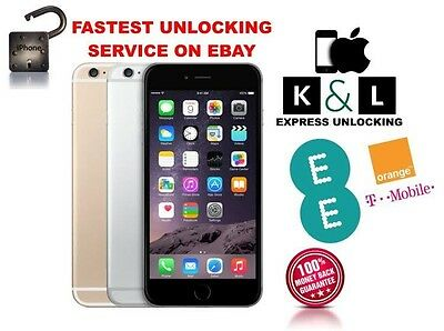 EE SUPER FAST UNLOCKING SERVICE IPHONE 3 3GS 4 4S 5 5S 6 and 6plus