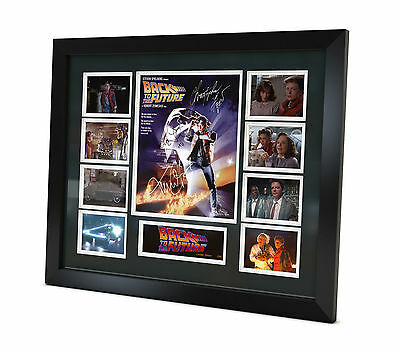 Back to the Future Signed Photo Michael J Fox Memorabilia Limited Edition Framed