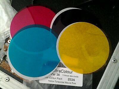 Pinspot coloured filters 2 x 4 ¥