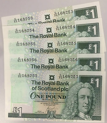 RBS Rare £1 One Pound Note Uncirculated Royal Bank of Scotland