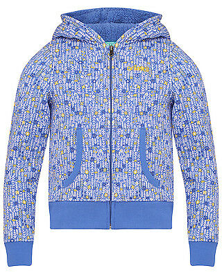 Animal Pippa  Girls Hoody in Blue - On Sale Now