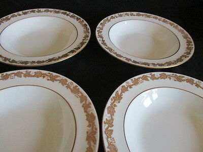 Wedgwood Whitehall W4001 rimmed Soup plates / bowls x 4