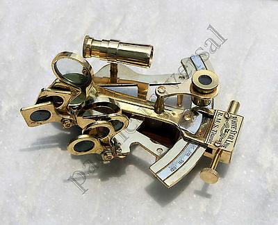 """Nautical Sextant 4"""" Solid Brass Working Maritime Ship Navigation gift Instrument"""