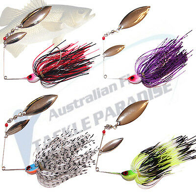 4x 1/2oz Spinnerbaits Spinner Bait Fishing Lures Buzz Fly Bass Cod Barra Spoons