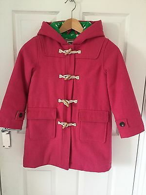 Gorgeous girls winter duffle coat by Mini Boden, age 6-7, hot pink