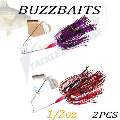 2x 1/2oz Buzzbait Buzz Baits Fishing Lure Spinnerbaits Spinner Spinners Bass Cod