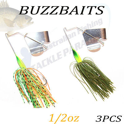 2x 1/2oz Buzzbait Buzz Baits Fishing Lure Spinnerbaits Spinner Spinners Bass bre