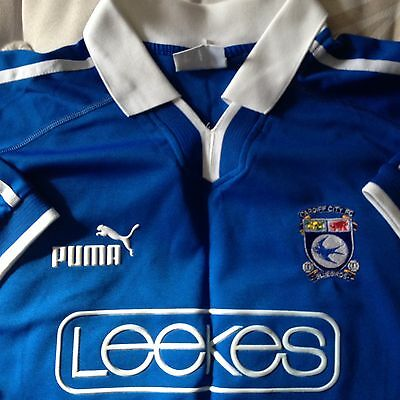 Cardiff City Bluebirds 2002-2003 Football Shirt Puma New Mint Size XL