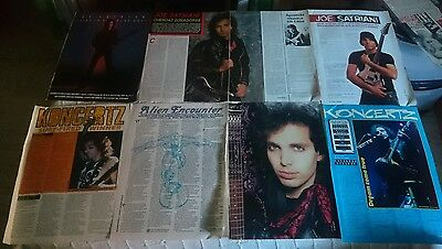 Joe Satriani Lot 44 Clippings Magazine C1 80's To 00's Very Rare Pin Up