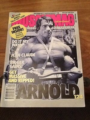 Vintage Musclemag  Bodybuilding Magazine With Arnold Schwarzenegger On Front Cov
