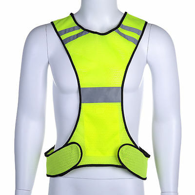 High Visibility Adjustable Security Reflective Vest Night Cycling Gear Jacket