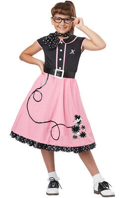 50's Sweetheart Rock N Roll Poodle Child Girls Rockabilly Fancy Dress Costume