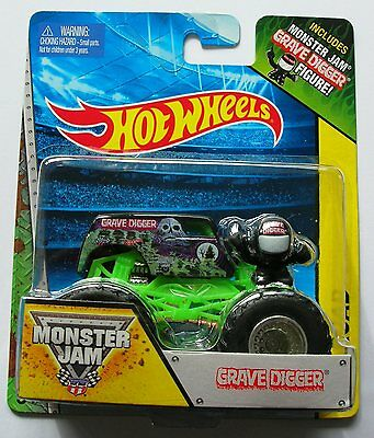 Hot Wheels Monster Jam Truck  GRAVE DIGGER   With Figure Rare UK !!