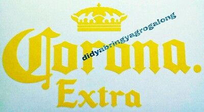 1x Yellow Corona 500mm wide vinyl sticker or CHOOSE YOUR colour beer bar eski