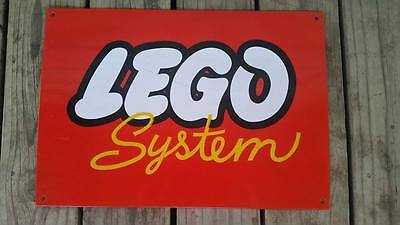 "Vintage Collectible Lego System / Enamel Metal Sign Board ""AUSSIE SELLER"" RARE"