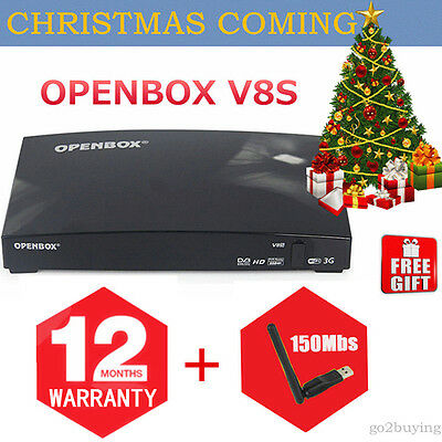 100% Genuine Openbox V8S Full HD TV BOX with 12 Months Warranty + FREE GIFT WIFI