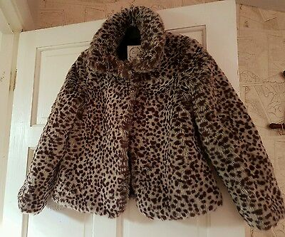 girls leopard print coat