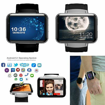 "2.2"" WiFi Bluetooth Smart Watch 4GB 3G GSM GPS SIM Camera For Android Samsung"